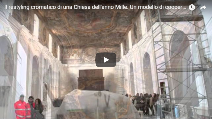 restyling cromatico chiesa anno mille